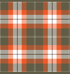 Orange and gray tartan plaid seamless pattern vector