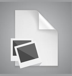 paper symbol photo frame vector image