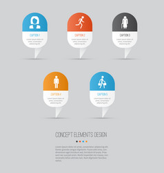 Person icons set collection of old woman vector