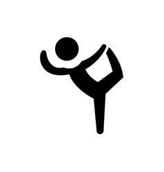 pilates - gymnastics - practice - exercise icon vector image