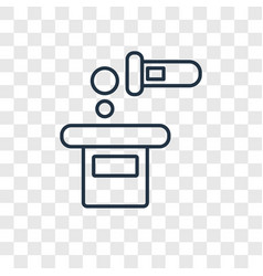 Pour concept linear icon isolated on transparent vector