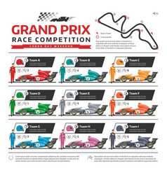 race car with racer driver racing speedcar vector image