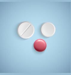 realistic pills on a white background medical vector image
