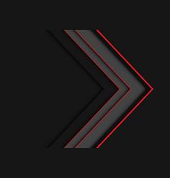 Red line grey arrow overlap on dark blank vector