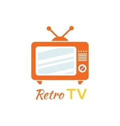 Retro Tv Logo Design Flat Icon vector