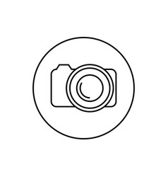 round contour icon camera vector image