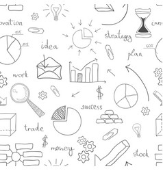 seamless business icon background vector image