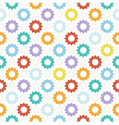 Seamless pattern with colorful geometric elements vector image