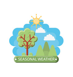 seasonal weather design vector image