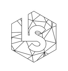 simple ls initials triangle chain logo and icon vector image