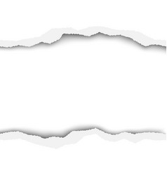 Snatched hole in sheet of white paper with space vector