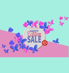 spring easter sale banner vector image