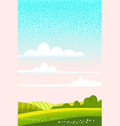 Spring landscape march month season banner vector
