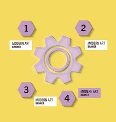 Technology background with gear wheel cover vector