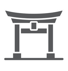 Torii gate glyph icon japan and architecture vector