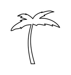Tree palm beach icon vector