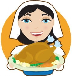 turkey pilgrim vector image
