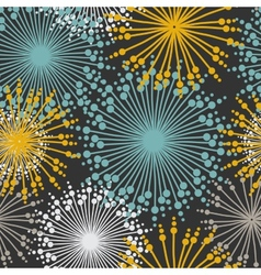 Vintage floral pattern in dark pastel colors vector image
