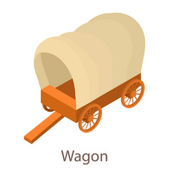 wagon icon isometric 3d style vector image