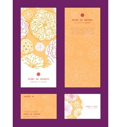 warm day flowers vertical frame pattern invitation vector image