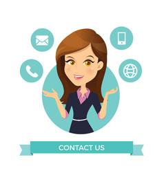 Women contact us vector