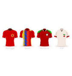 World cup group b team uniform vector