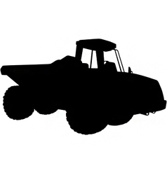 articulated dumper truck silhouette vector image