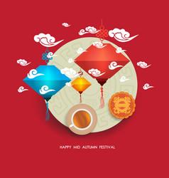 chinese lantern festival mid autumn full moon vector image