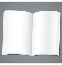 Empty brochure design template vector image