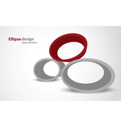 Abstract background with ellipse vector image vector image