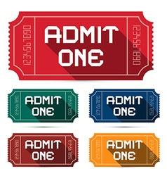 Admit One Tickets Set - vector image