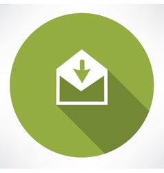 arrow with envelope vector image