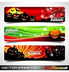 banner set on a halloween theme vector image