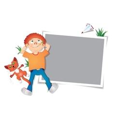 Childhood photo fame vector image vector image