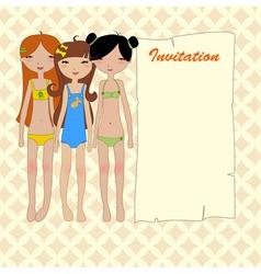 cool invitation frame vector image
