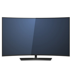 Curved TV vector image