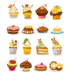 set cupcake vector image