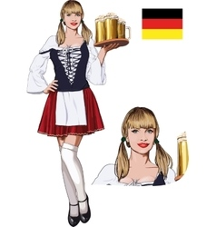 Sexy Bavarian girl vector image
