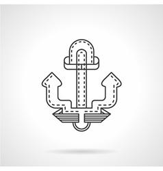 Anchor thin line icon vector image
