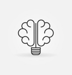 brain bulb icon vector image vector image