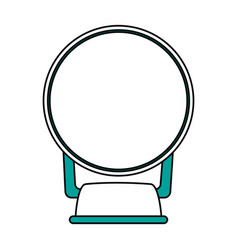 isolated mirror design vector image
