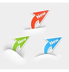 New labels Arrow design elements vector image