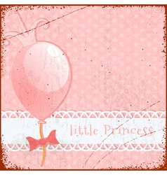 Retro Background Little princess vector image