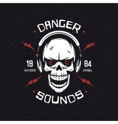 Vintage rock music related t-shirt graphics vector image