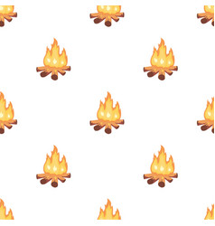 Campfire of stone age icon in cartoon style vector