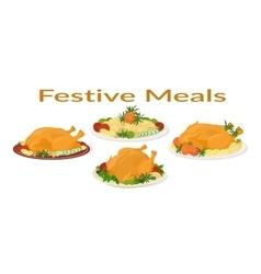 Festive Meals Set vector image