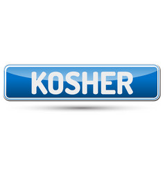 kosher - abstract beautiful button with text vector image