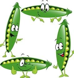 Pea - funny cartoon vector