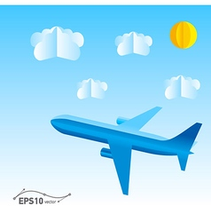 plane origami 3d paper vector image vector image