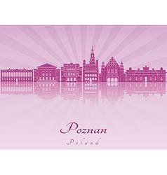 Poznan skyline in purple radiant orchid vector image vector image